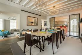 Lighting Dining Room Open Plan Dining Room Lighting Rug Penthouse Apartment In St With
