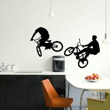 online get cheap childrens wall murals aliexpress com alibaba group large bmx bike childrens bedroom wall mural giant graphic sticker matt vinyl