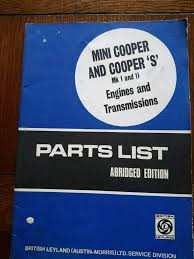 mini workshop manual and some spares hampshire motorbike parts