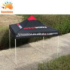 Custom Printed Canopy Tents by Waterproof Pu Coating Outdoor Canvas Trade Show Custom Print Pop
