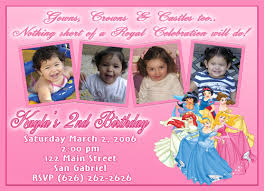 custom birthday cards custom disney princess invitations tolg jcmanagement co