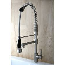 bronze commercial kitchen faucets with sprayer wide spread single