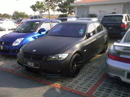 kereta bmw azril nazli alias bmw e90 matte black