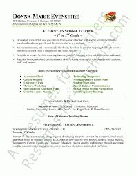 resume for student teaching exles in writing elementary teachers resume best resume collection