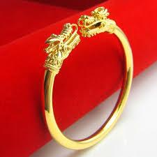 double gold bracelet images Good color double tap 999 imitation gold bracelet men 39 s jpg