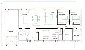 plan de cuisine en l plan de maison en l 3 chambres plan maison
