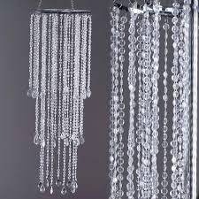 10 diameter x 36 drop flying colors acrylic diamond chandelier