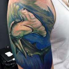 70 hammerhead shark tattoo designs for men deep sea ink ideas