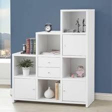 White Bookshelf With Glass Doors Bookcases With Doors You U0027ll Love Wayfair