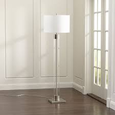 Tall Floor Lamps For Living Room Avenue Nickel Floor Lamp Floor Lamp Crates And Barrels