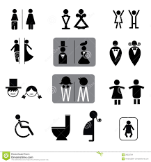 toilet signs vector set stock images image 36323784