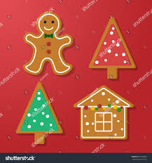 set vector icons christmas ginger bread stock vector 527630080