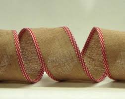 burlap wired ribbon wired burlap ribbon etsy