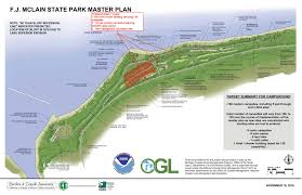 Map Of The Upper Peninsula Of Michigan by Dnr Dnr Finalizes Master Plan For F J Mclain State Park