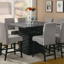Counter High Dining Room Sets by Stanton Counter Height Dining Table In Black Coaster W Options