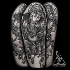 black and grey ganesha half sleeve tattoo on upper arm by u2026 flickr