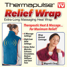 thermapulse relief massaging heat wrap from collections etc
