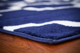 navy blue quatrefoil morrocan trellis area rugs 5x8 8x11