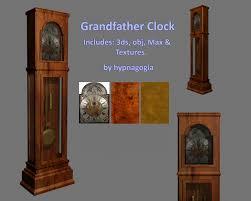 grandfather clock grandfather clock 3d model sharecg