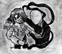 drawn slender man jeff the killer pencil and in color drawn