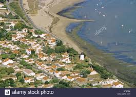la guérinière aerial view island of noirmoutier atlantic coast