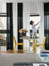 Black And White Curtain Designs Remarkable Black Living Room Curtains Designs With Smartness