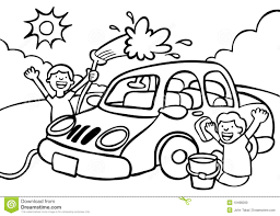 washing car clipart black and white clipartxtras