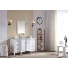 Single Bathroom Vanities Ari Kitchen And Bath Luz White 60 Inch Single Bathroom Vanity Set
