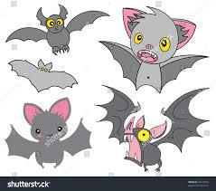 set cartoon halloween grey bats vector stock vector 64514044