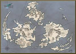 Ff9 World Map by The Planet Ffvii Map By Mizaria On Deviantart