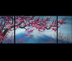 cherry blossom canvas wall art modern abstract art home decor