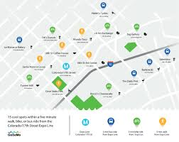 Santa Monica Map Mapping Everything To Do Around The New Santa Monica Expo Line