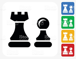 Chess Piece Designs by Chess Pieces Icon Flat Graphic Design Stock Vector Art 491632320