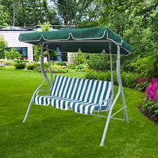 hammock bench foxhunter garden metal swing hammock 3 seater chair bench outdoor