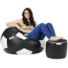 can football xxl bean bag and pouffe with beans black amazon in