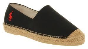 ralph lauren mooretown espadrille black canvas sandals