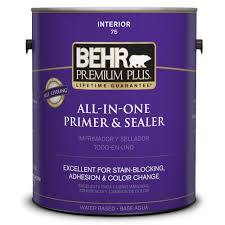 behr premium plus 1 gal stain blocking primer and sealer interior