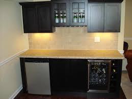 bar u drawer contemporary basement brown wet bar ideas home design