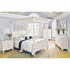 signature bedroom furniture bedroom furniture plantation cove white canopy queen bed