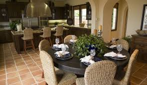 Colored Dining Room Chairs Neutral Colored Rattan Dining Room Chairs With Round Table In A