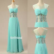 girlfriend prom dress elegant ice green chiffon floor length