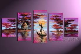 modern landscape art huge oil on canvas painting