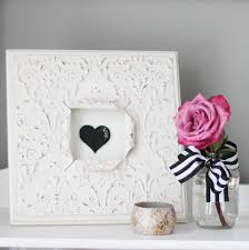 Heart Home Decor Quick Project Idea Decorative Framed Heart Decor Paper Riot