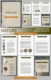nature indesign ebook template presentation templates creative