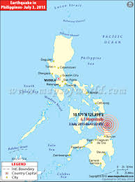 Maps Of The World Com by Philippines Earthquake Map Places Affected By Earthquake In