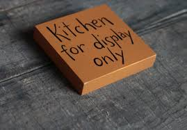 kitchen for display only sign the weed patch