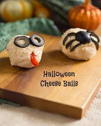 Red Kitchen Recipes - halloween cheese ball monsters the in the little red kitchen