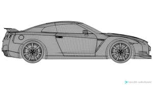 nissan gtr skyline drawing 3d rigged nissan gtr dynamics cgtrader