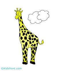 photogenic giraffe coloring pages kids color print