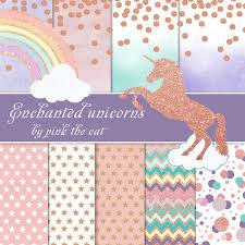 unicorns and background papers templates unicorn clipart glitter